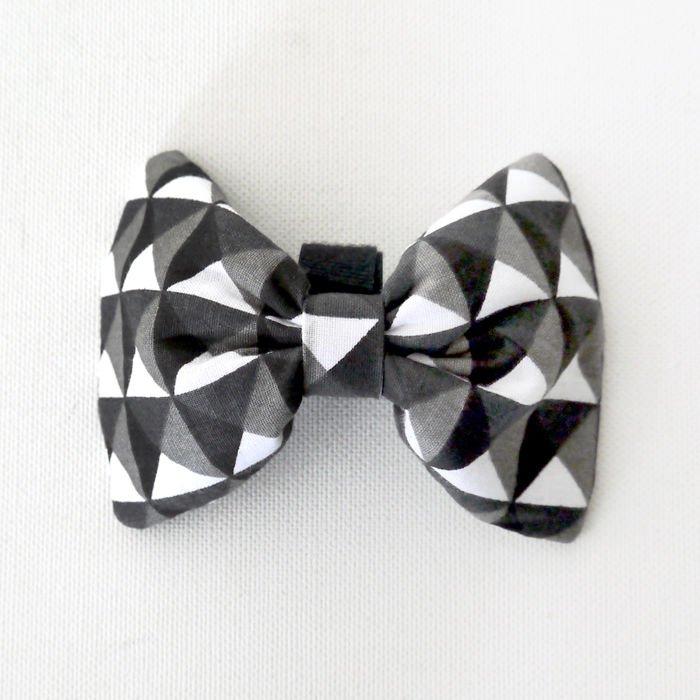 36ab1f807e52 Black, grey, white Dog Bow Tie Momo, Pet Bow Tie, Bowtie, Collar Attachment