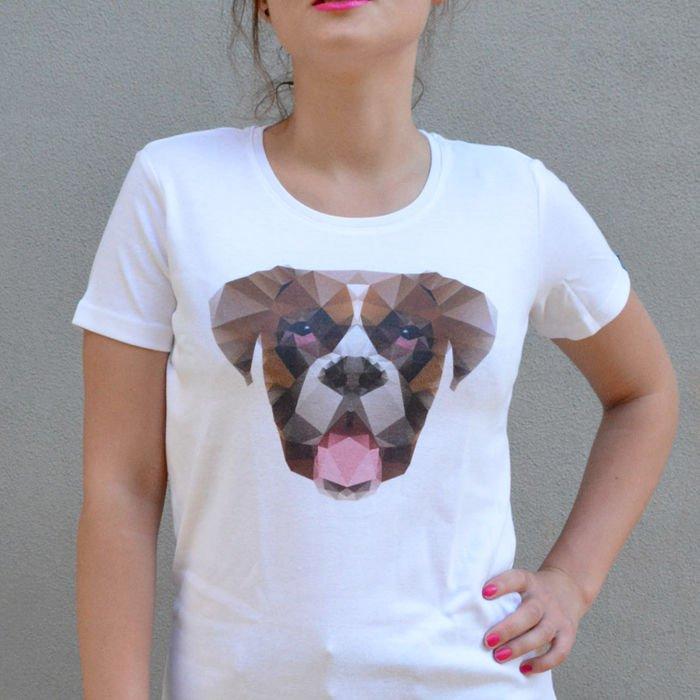 Boxer Dog T Shirt Geometric Series