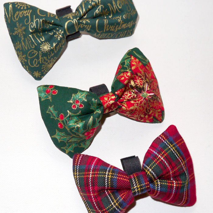 Christmas Dog Bow Tie, Pet Bow Tie, Bowtie, Collar Attachment ...