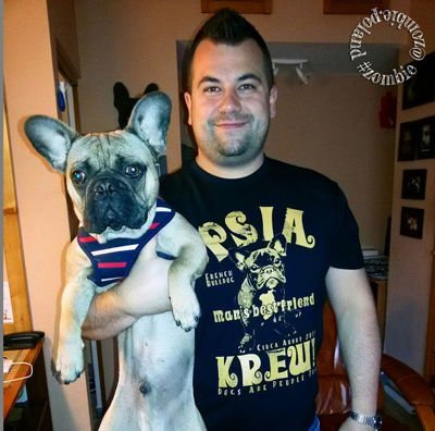 Dog T-shirt French Bulldog Man's best friend