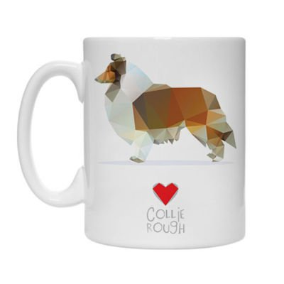 Mug with Geo Collie Rough