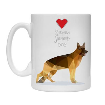 Mug with Geo German Shepherd Dog