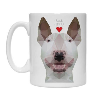 Mug with White Geo Bull Terrier