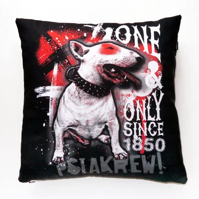 Pillow Bull Terrier 1850 Dog Decorative Cushion Psiakrew