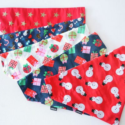 Christmas Dog Bandana Neckerchief